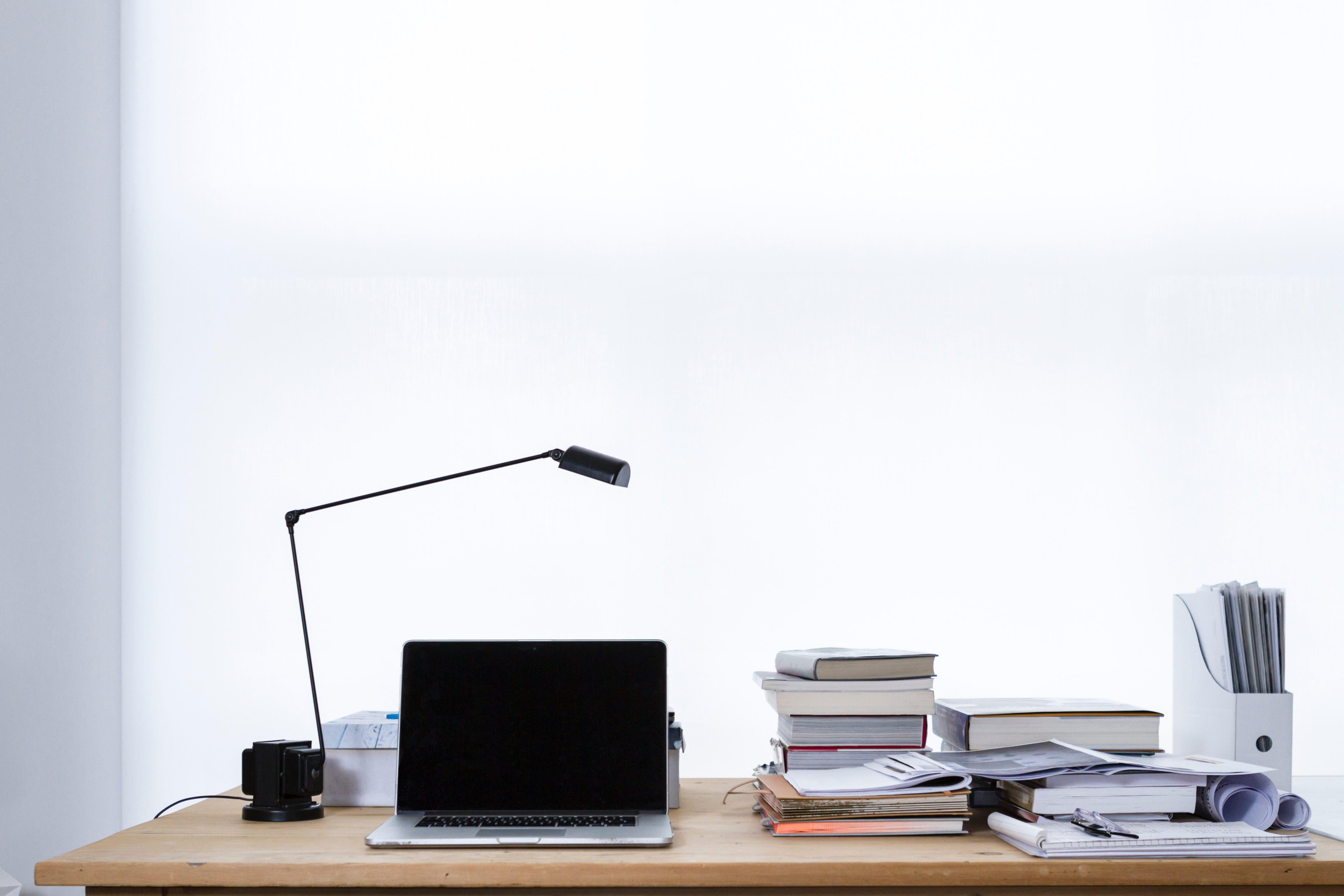 efficient desk scene